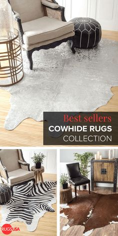 Bring a cabin and country living feel to a city dwelling with a cowhide rug from Rugs USA. Choose from 1000s of amazing high-quality styles at up to 80% off + get free shipping.