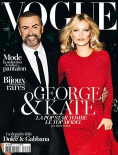 George Michael & Kate Moss by Mario Testino for Vogue Paris, October 2012.