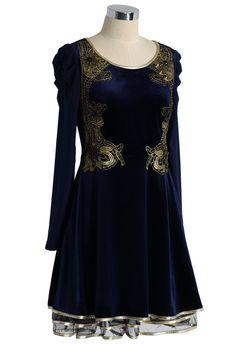 Golden Age Velvet Tulle Dress - Party - Dress - Retro, Indie and Unique Fashion