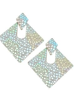 Brief Colorful Square Spot Woman Earrings