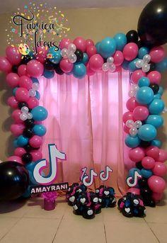 12th Birthday Party Ideas, Dance Party Birthday, Birthday Party Design, Sleepover Birthday Parties, 10th Birthday, Birthday Balloons, Birthday Party Decorations, Girl Birthday, Balloon Party