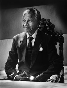 Nelson Mandela - The South African activist and former president Nelson Mandela helped bring an end to apartheid and has been a global advocate for human rights. Apartheid, African National Congress, Nelson Mandela Quotes, Portraits, Rest In Peace, African American History, Famous Faces, Black History, South Africa