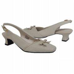 Easy Street Incredible Shoes (Oatmeal Linen) - Women's Shoes - 9.0 E