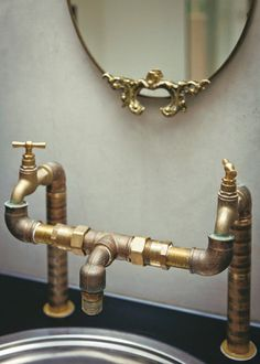Even though it's in the bathroom, this is a great use of plumbing pipes!