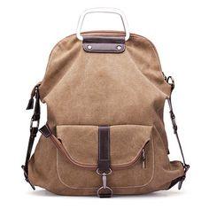 Casual Canvas Multipurpose Multi-pockets Backpack Shoulder Bag Backpack For Women