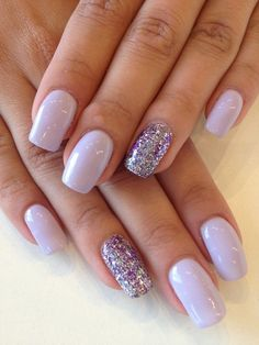 Nagellack glitzer lila farben und designs