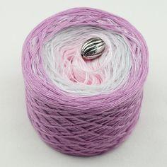 """Farbverlaufsgarn """"Himbeer"""" Baumwollmischung dreifarbig – Birgit's Wollmarkt"""
