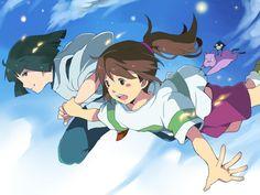 One of my favorite animated films, Spirited Away by Hayao Miyazaki Hayao Miyazaki, Grave Of The Fireflies, Studio Ghibli Spirited Away, Chihiro Y Haku, Studio Ghibli Movies, Fanart, Pixar, Castle In The Sky, Film D'animation