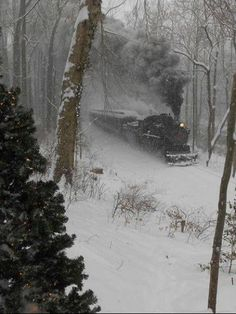 Circa 1945 steam locomotive plows through snowy woods.which is now the Dryden Lake hiking path from Weber Street to Keith Lane. Locomotive Diesel, Steam Locomotive, Train Tracks, Train Rides, Snowy Woods, Old Steam Train, Train Pictures, Scenery Pictures, Old Trains