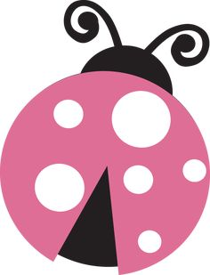 ‿Light pink ladybug