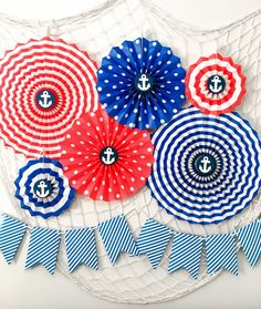 Nautical Party Kit Birthday Party Decorations by SparklyPartyKit