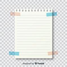 Several decorative paper notes Vector Bullet Journal Notes, Bullet Journal School, Scrapbook Vintage, Paper Background Design, Vector Background, Notes Template, Frame Template, Instax Frame, Overlays Instagram