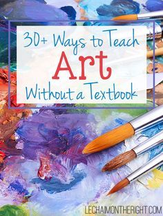 Ways to Teach Art Without a Textbook - incorporate hands-on art and art hist. - Ways to Teach Art Without a Textbook – incorporate hands-on art and art history in your homes - High School Art, Middle School Art, Classe D'art, Atelier D Art, Art Curriculum, School Art Projects, Art Lessons Elementary, Kids Art Lessons, Preschool Art