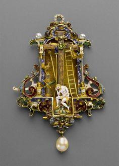 Pendant - Christ a Man of Sorrows 1590. Gold, enamel, pearl. | © Foto: Kunstgewerbemuseum