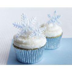 Sparkly Fondant Gumpaste Snowflake Cupcake How-To Cakegirls