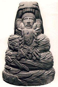 Quetzalcoatl - Le Serpent à Plumes - La plus importante des divinités aztèques.
