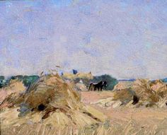 Harvesting at Thornhill, J E H MacDonald . Group of Seven (org. Canadian Painters, Canadian Artists, Tom Thomson, Emily Carr, Group Of Seven, Canada Images, National Art, Acrylic Painting Techniques, Art Paintings