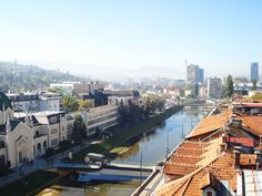 """Wonderful loop pedestrian bridge that links the Academy of Fine Arts and a street in Sarajevo.    The bridge is appropriately named Festina Lente, which is Latin for """"hurry slowly"""" because the loop is meant for those walking across to pause and to awaken spiritually."""