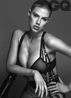 Blonde bombshell Charlotte McKinney flaunts her buxom figure in a sexy feature for December 2015 issue of GQ UK. Photographed by Hunter & Gatti, the model, who shot to fame for a risqué Carl's Jr. commercial, goes nearly naked in all black ensembles. Stylist Zoe Costello makes sure to select plenty of leather, thigh-high boots …