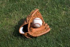 This baseball glove is ready for the game.