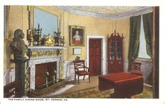 Vintage Postcard....The Family Dining Room by PostcardsbySchlockMe
