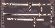 Fantasy Sword, Fantasy Weapons, Fantasy Katana, Armas Ninja, Sword Design, Katana Swords, Anime Weapons, Magical Jewelry, Weapon Concept Art