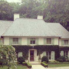Limestone & Boxwoods - Instagram (@limestonebox) - French house in Tuxedo Park, Atlanta built by Benecki Homes. Landscape by LandPlus.