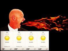 De cómo expresamos el pronóstico del tiempo en Arizona...  #Tiempo #Weather #Arizona #AsaderoNatural