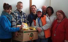 Helfer der Lebensmittelhilfe