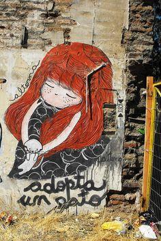 adopt a cat #streetart #arturbain #Graffiti #art #artiste #expressionderue #urbainisme #urbanisme #ville #courantartistique #histoire #history #urbanart #fresque