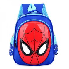 Kids Superhero Spiderman Backpack School Bag Kindergarten Rucksack Sky Blue