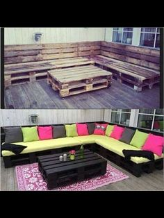 Would love some kind of big seating on a back porch