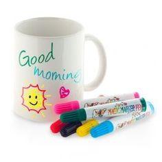 Paintable Ceramic Mug  Mug you can feel like a kid again! Every morning you can customise your Paintable Ceramic Mug while you have breakfast