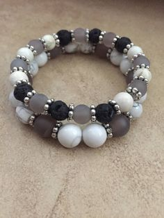 A personal favorite from my Etsy shop https://www.etsy.com/listing/533011793/diffuser-bracelet-grey-white-diffuser