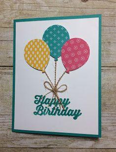 Kards by Kadie: Spot Light Sunday Simple Birthday Cards, Homemade Birthday Cards, Bday Cards, Birthday Greeting Cards, Greeting Cards Handmade, Homemade Cards, Birthday Greetings, Mom Birthday Crafts, 80th Birthday
