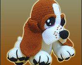 Amigurumi Crochet Pattern - Boris, The Basset Hound Puppy