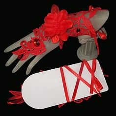 Bride Wedding Dress Gloves Lace Flower Bandage More Colors - USD $ 3.99