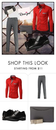 """// ROSEGAL-Men Style//  57/I"" by bahiraf ❤ liked on Polyvore featuring Stacy Adams, Jack Spade, Burberry, men's fashion and menswear"