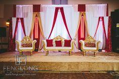 Wedding stage for Nikkah or Indian wedding | Atlanta Pakistani Muslim Wedding at Doubletree & Hilton Northeast