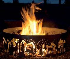 look at the design on this fire pit... yes please.