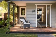 Dream Houses: Small Porch Offers The Perfect Private Retreat Surrounded By Greenery - Contemporary with a Dash of Textural Spunk: Northcote in Melbourne. Pergola, Small Porches, Modern, Contemporary, Brick Tiles, Property Prices, Greenery, Exterior, House Design
