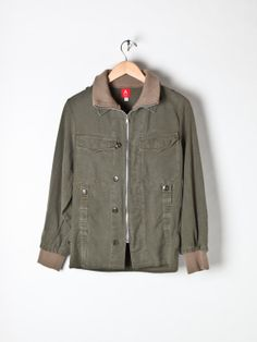 Vintage German Moleskin Mens army field jacket by Flyinganyc, $59.00