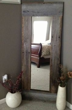 40 Rustic Home Decor Ideas You Can Build Yourself - Page 7 of 9 - DIY & crafts. I HAVE A MIRROR