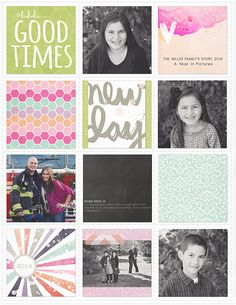 Project Life 2014 cover - 8.5x11 album     ginamillerdesigns
