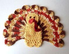 "Free pattern for ""Thanksgiving Turkey Dishcloth""!"