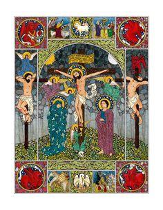 The Crucifixion //  Religious artwork by Daniel Mitsui [www.danielmitsui.com] // #HolyWeek #GoodFriday #Jesus #Christ