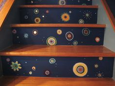 Pictures of beautifully painted stairs have been featured on decorating blogs recently. These inspirations made me itch to continue the saga of my own small stairway.