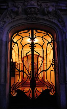 This beautiful door architecture shows Art Nouveau's true talents; with these flowing lines and violent curves, Art's style continues to be a major hit even today.  Not only does Art look towards canvas' but he looks to turning everyday objects into pieces of masterful art.