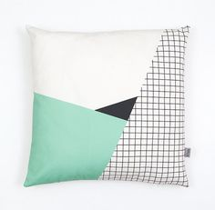 Memphis 2 Cushion Cover organic cotton twill van depeapa op Etsy, $41.00
