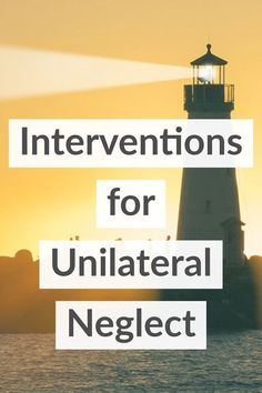 Occupational Therapy Interventions for Unilateral Neglect After Stroke from the My OT Spot blog. #ot #cota #cva #myotspot